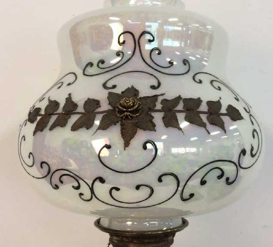 Ornate Victorian Bronze Banquet Lamp From New York City - 2