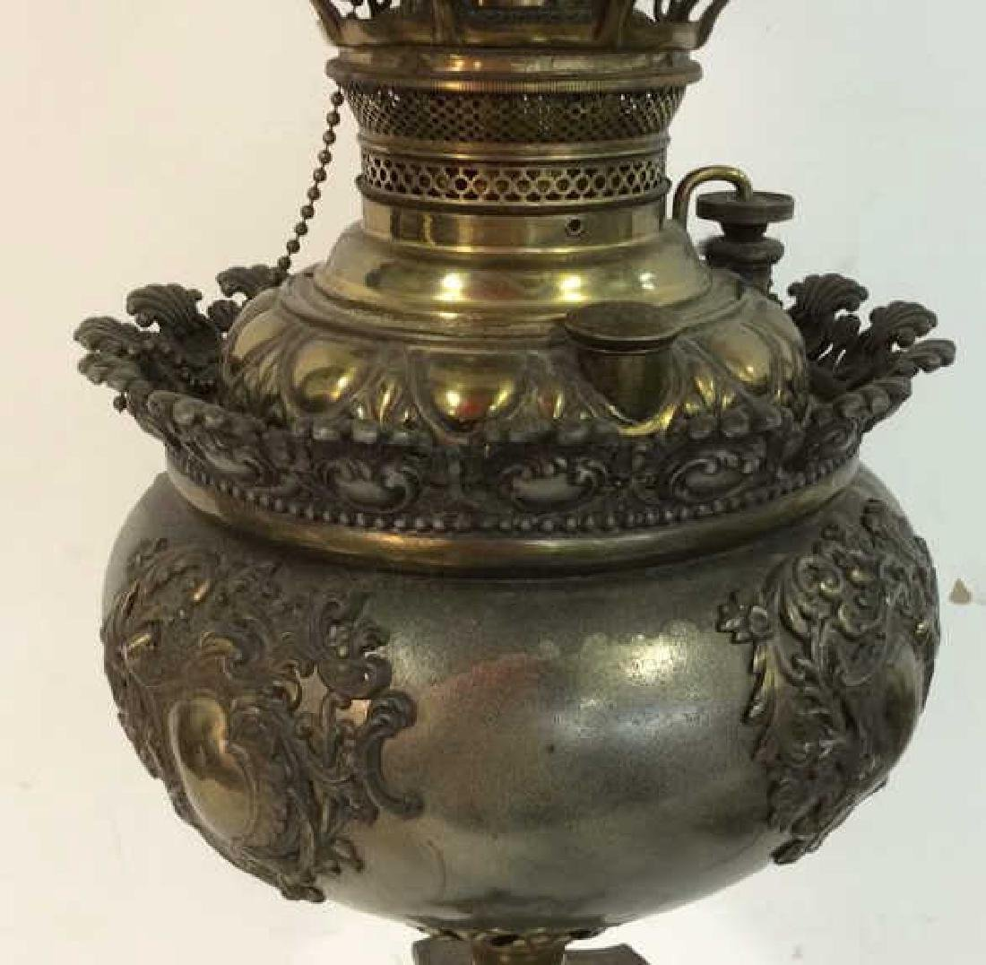 Ornate Victorian Bronze Banquet Lamp From New York City - 4