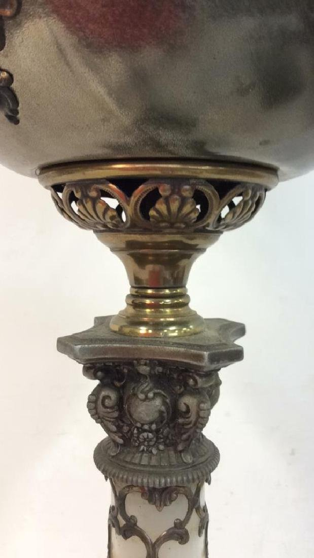 Ornate Victorian Bronze Banquet Lamp From New York City - 6