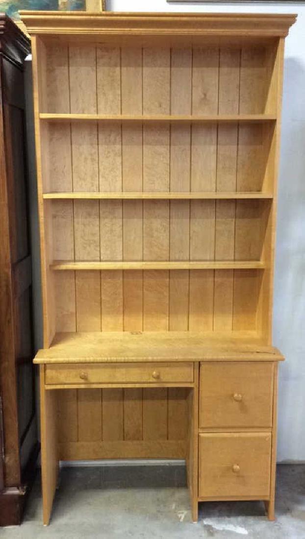 Birds Eye Maple Desk W Book Shelf Custom desk with