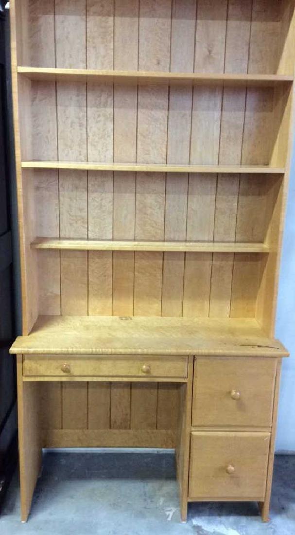 Birds Eye Maple Desk W Book Shelf Custom desk with - 2