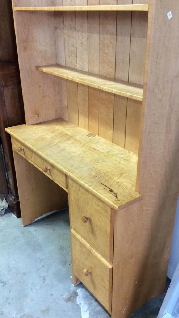 Birds Eye Maple Desk W Book Shelf Custom desk with - 4