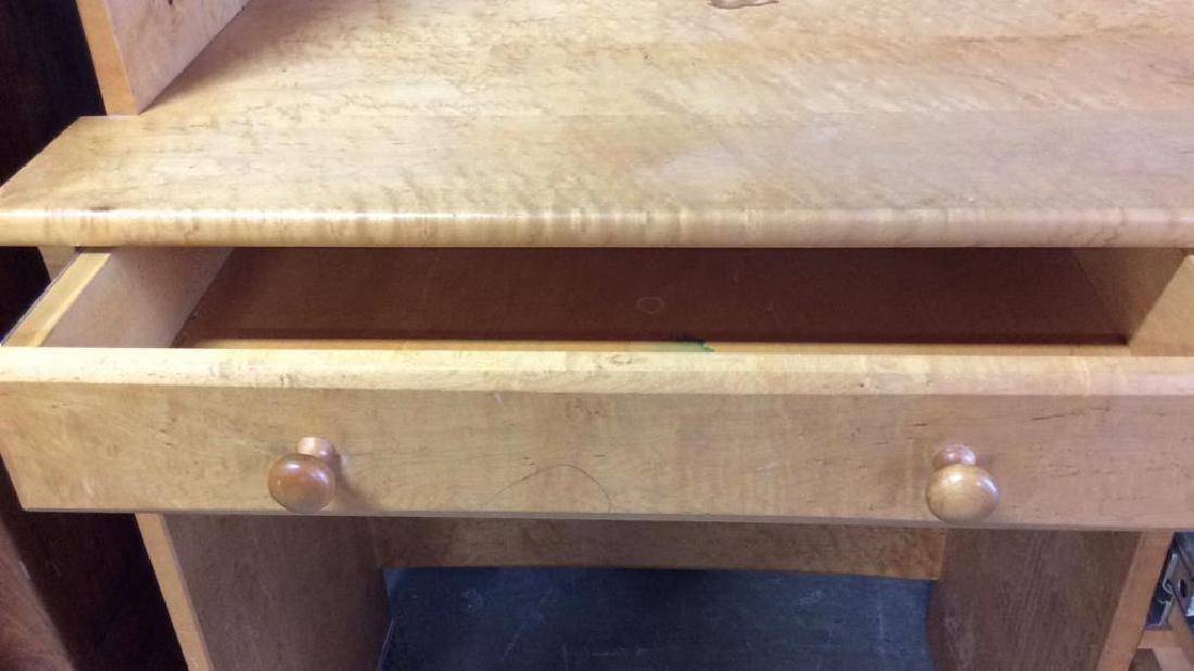 Birds Eye Maple Desk W Book Shelf Custom desk with - 6