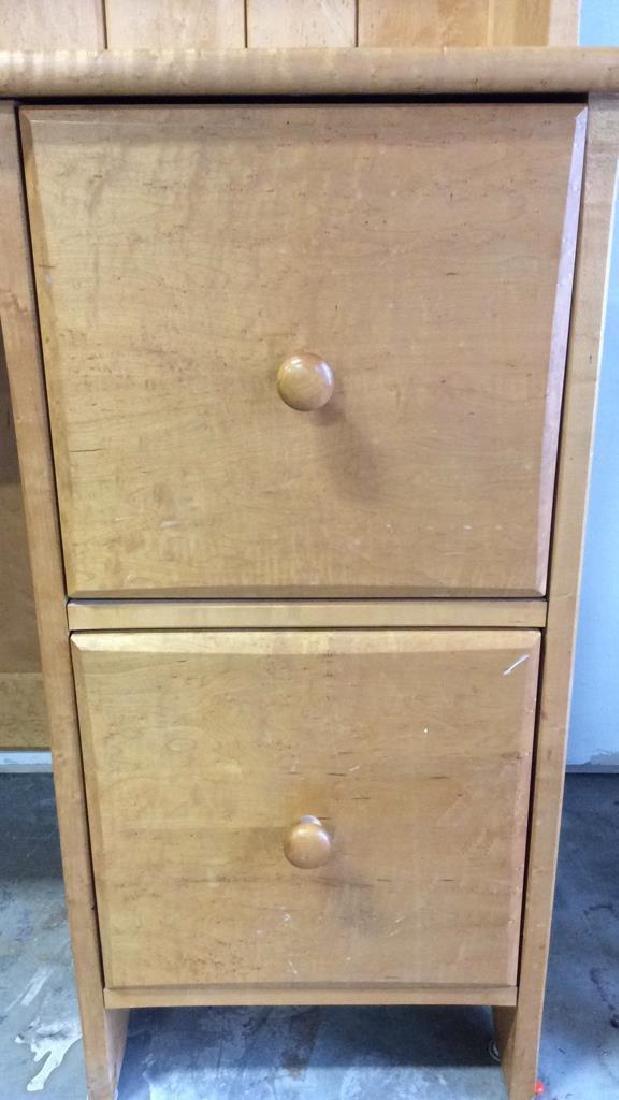 Birds Eye Maple Desk W Book Shelf Custom desk with - 7