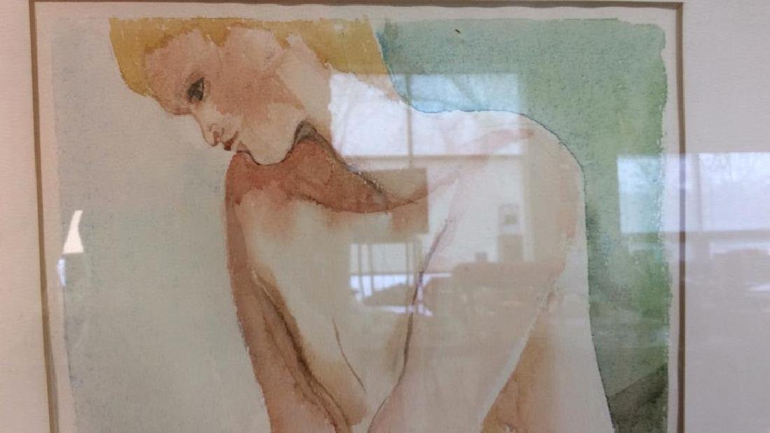 Ronnie Lambrou Signed Water Color Nude Signed male - 5