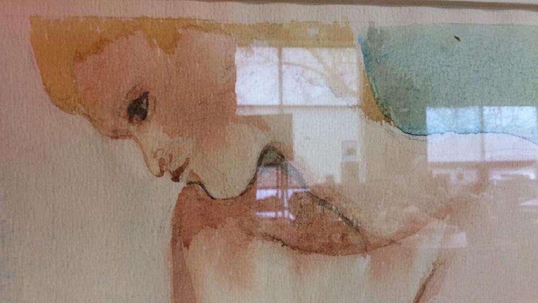 Ronnie Lambrou Signed Water Color Nude Signed male - 6