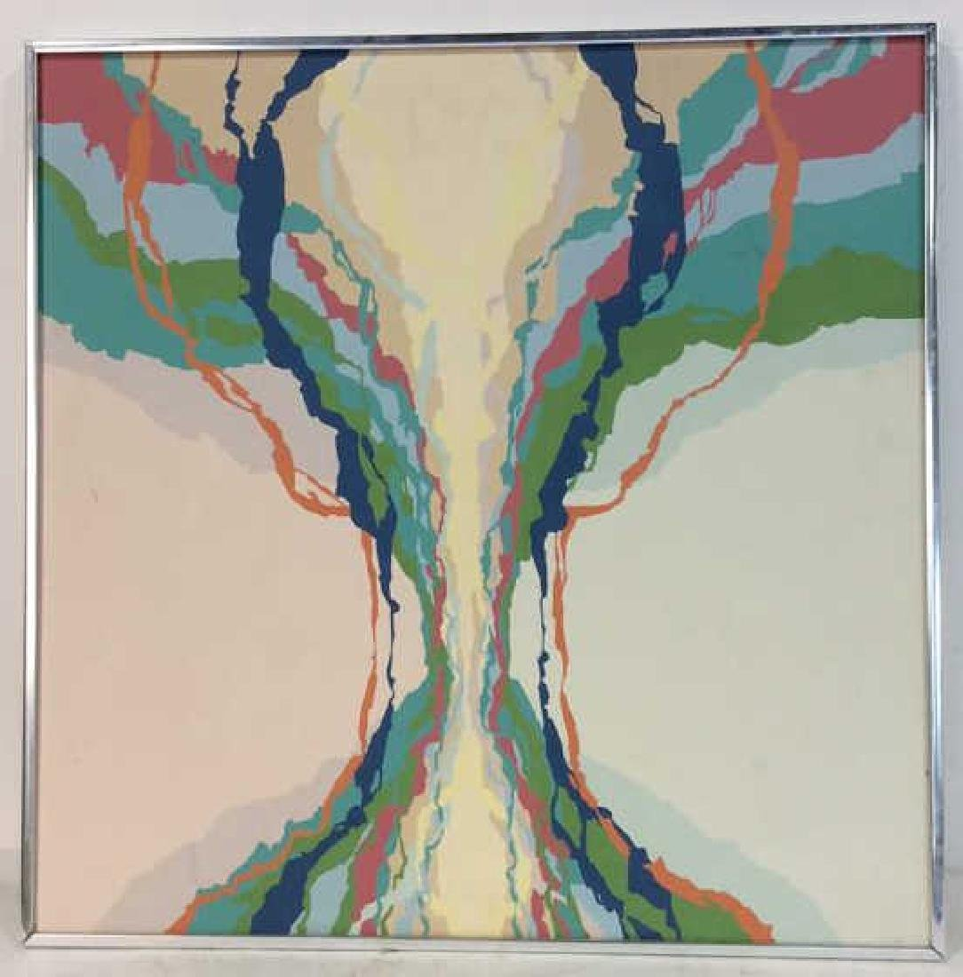 Shannon, 1974, Abstract Painting on Canvas Signed - 2