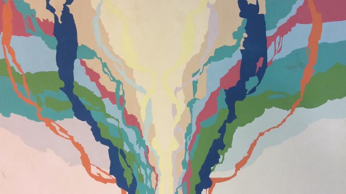 Shannon, 1974, Abstract Painting on Canvas Signed - 5