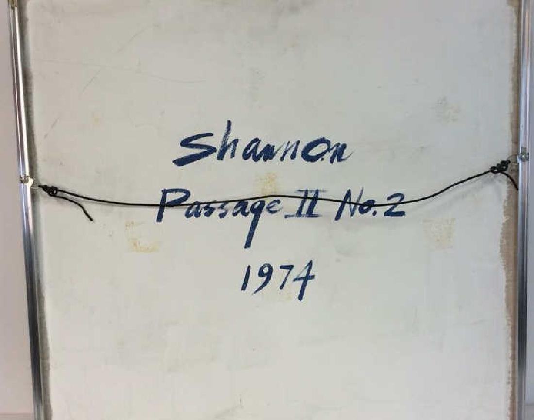 Shannon, 1974, Abstract Painting on Canvas Signed - 9