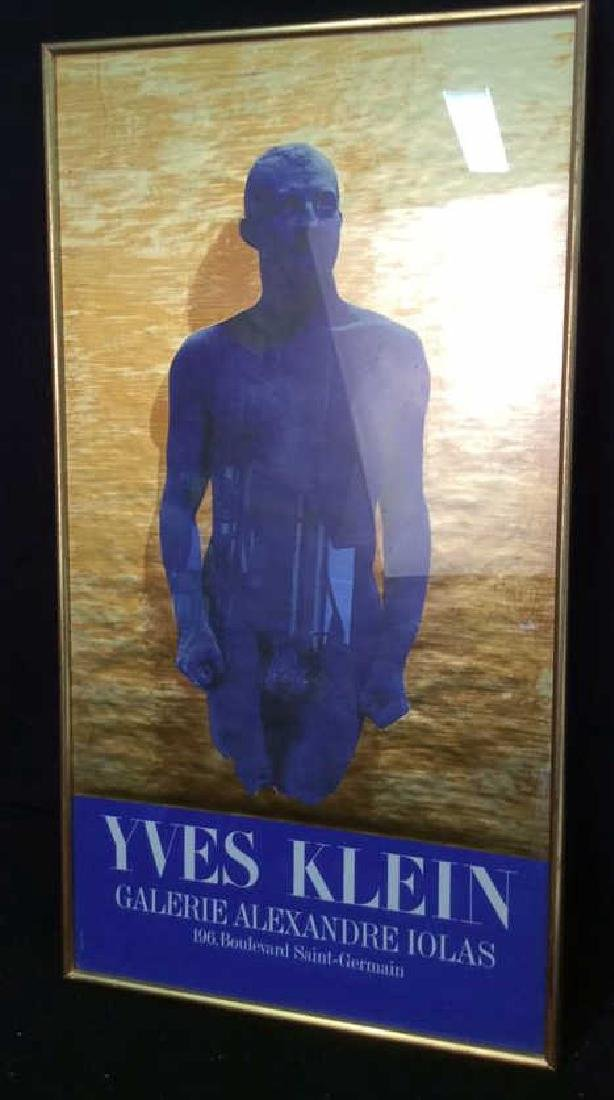 Vintage Framed Yvette Klein Exhibit Poster Paris
