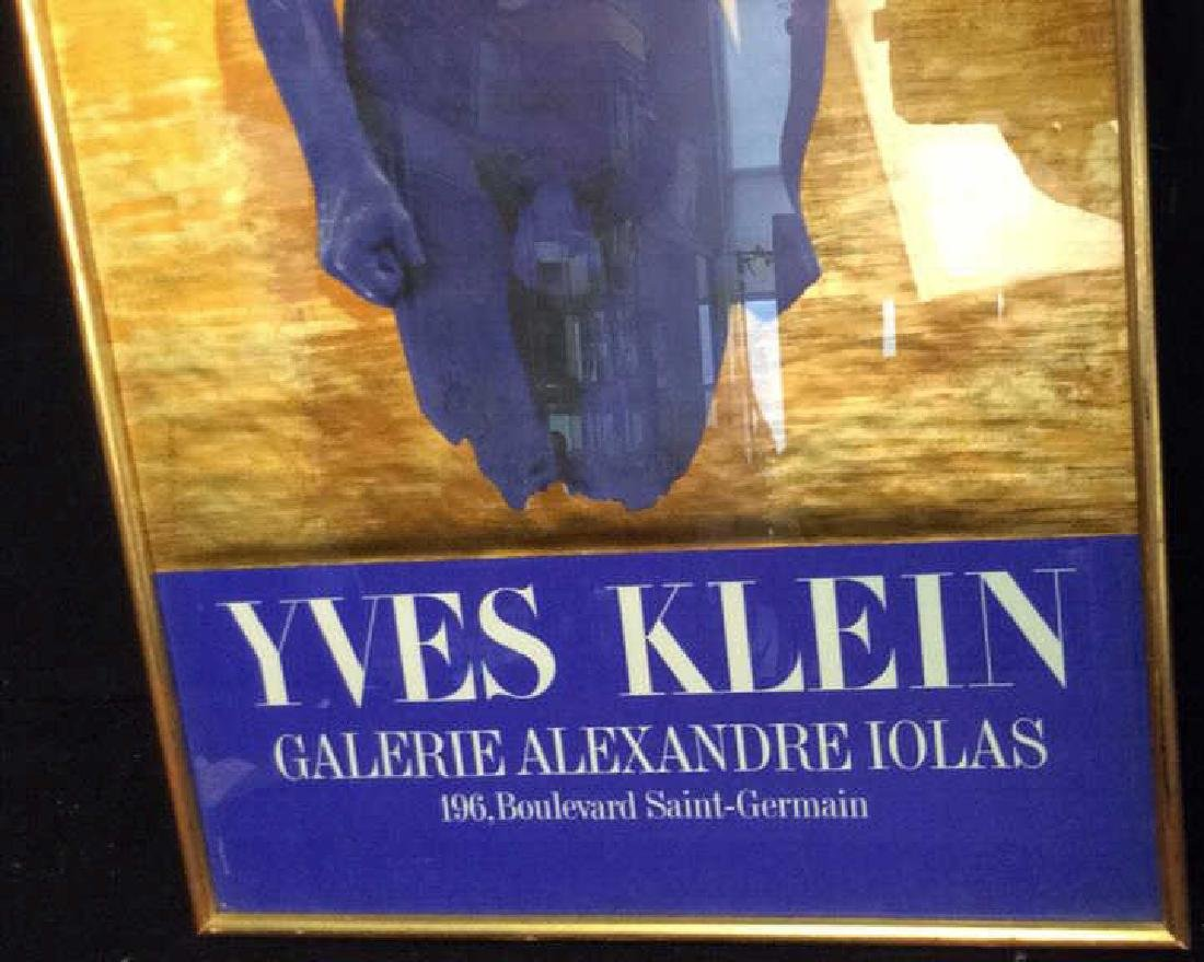 Vintage Framed Yvette Klein Exhibit Poster Paris - 4