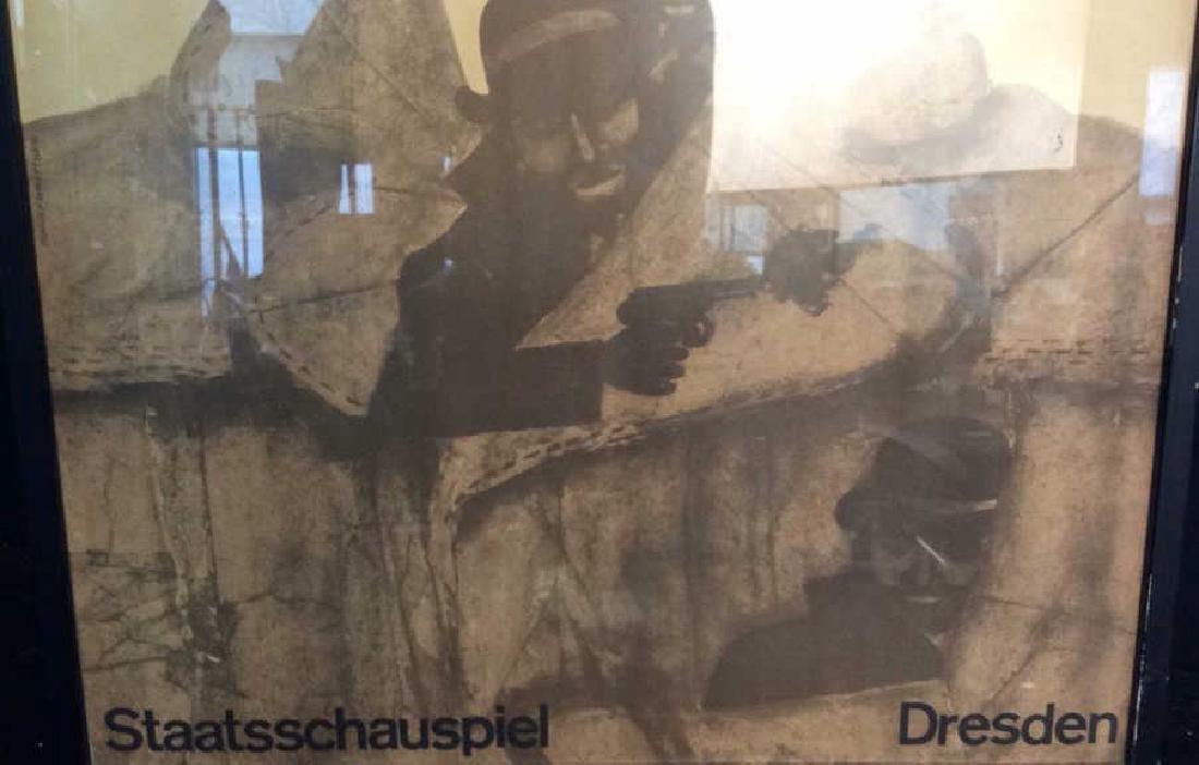 Vintage Bertolt Brecht Dresden Exhibit Poster Framed - 3