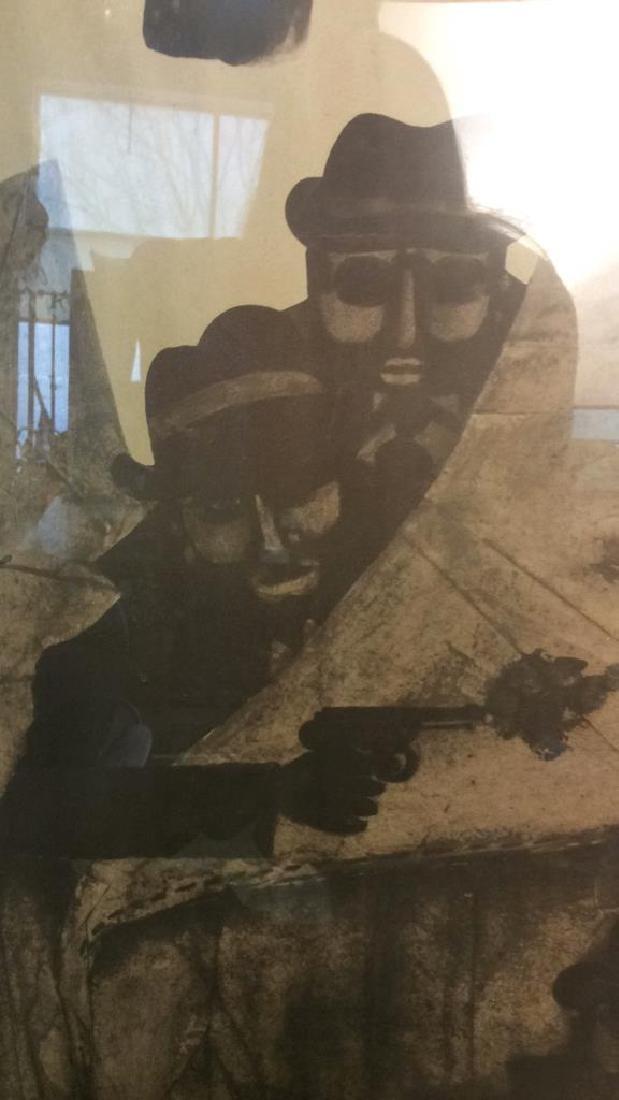 Vintage Bertolt Brecht Dresden Exhibit Poster Framed - 4