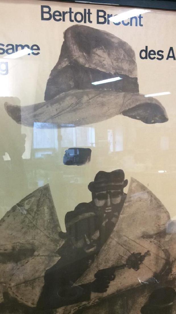 Vintage Bertolt Brecht Dresden Exhibit Poster Framed - 6
