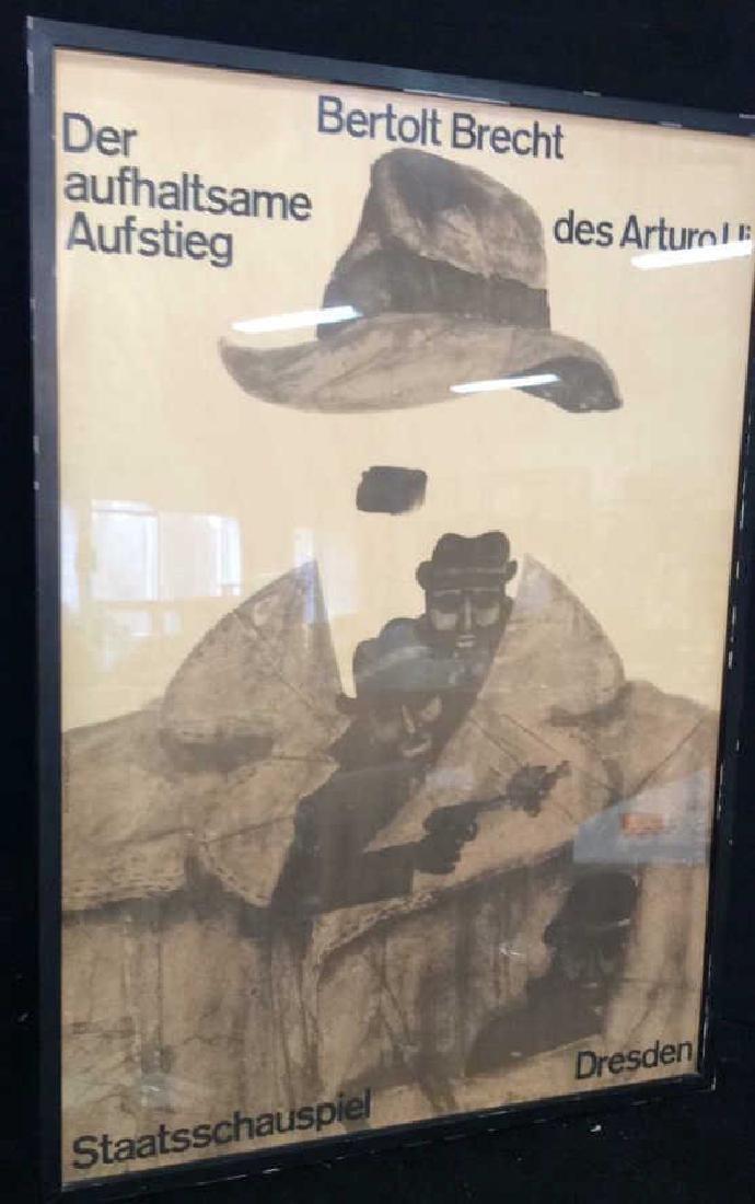 Vintage Bertolt Brecht Dresden Exhibit Poster Framed - 8