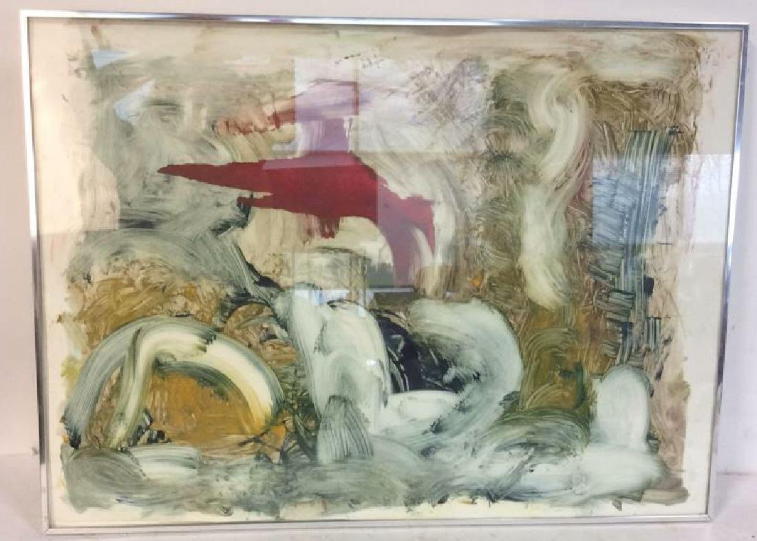 Pete Biester Monoprint Abstract Artwork Labeled for - 2