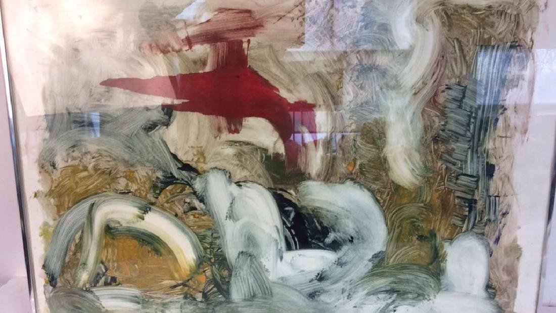 Pete Biester Monoprint Abstract Artwork Labeled for - 4