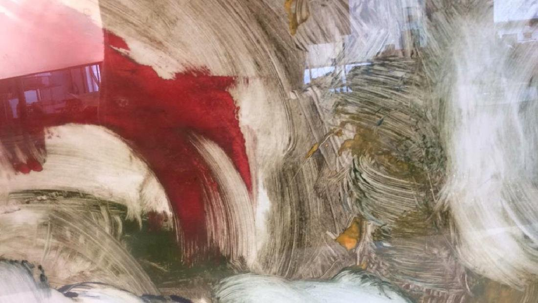 Pete Biester Monoprint Abstract Artwork Labeled for - 5