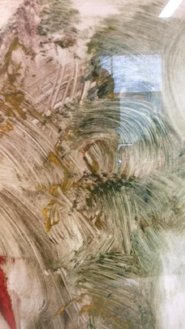 Pete Biester Monoprint Abstract Artwork Labeled for - 8