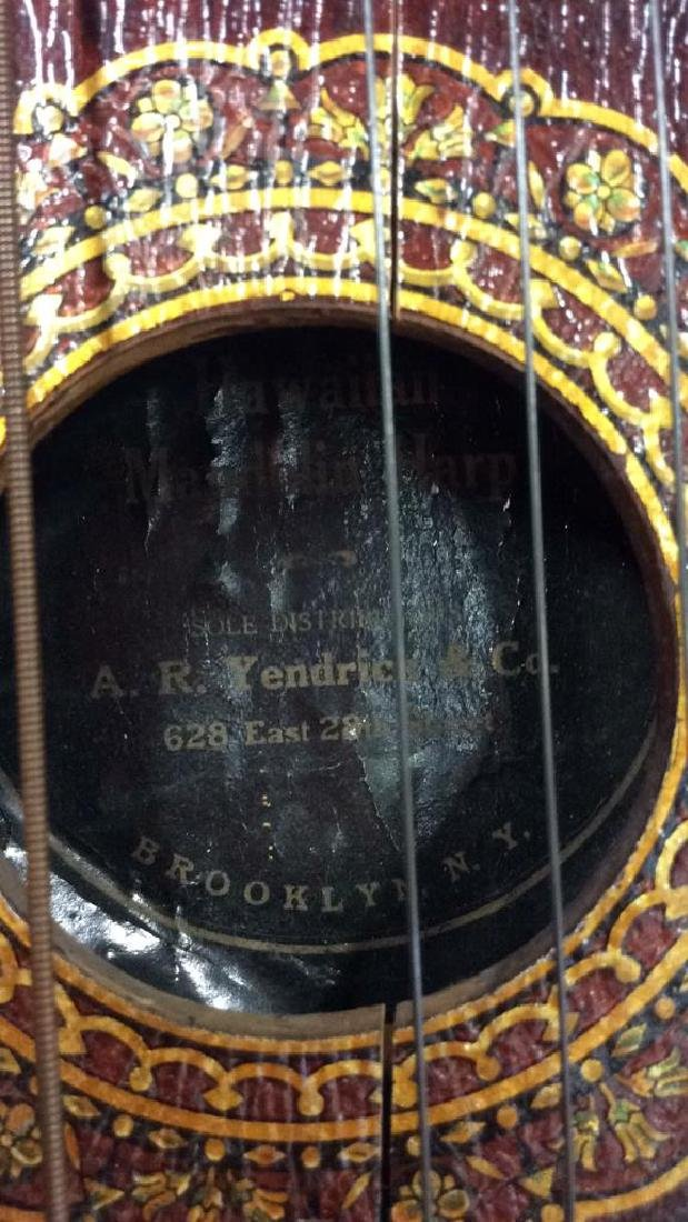 A. R Yendrick & Co Carved and Painted Mandolin Harp - 10