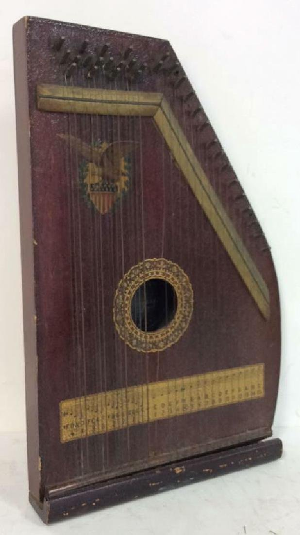 A. R Yendrick & Co Carved and Painted Mandolin Harp