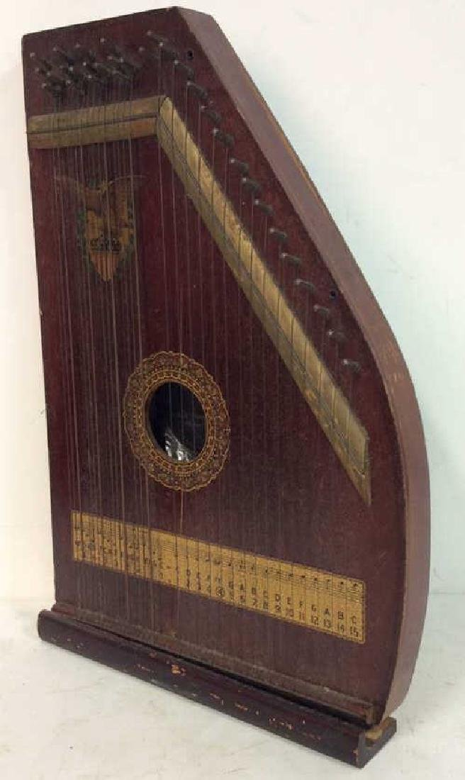 A. R Yendrick & Co Carved and Painted Mandolin Harp - 3