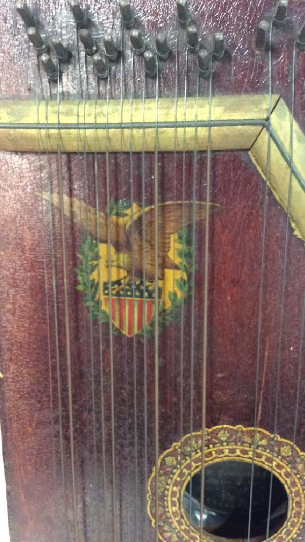 A. R Yendrick & Co Carved and Painted Mandolin Harp - 7