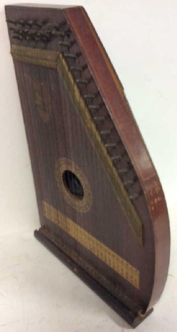 A. R Yendrick & Co Carved and Painted Mandolin Harp - 8