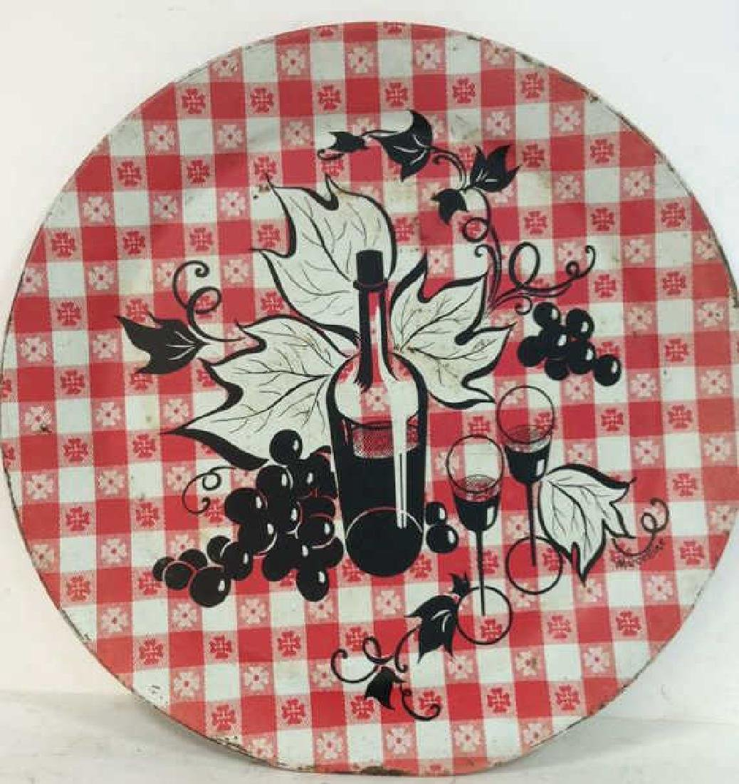 Vintage Checkered Tole Tray Vintage Kitchen Tray