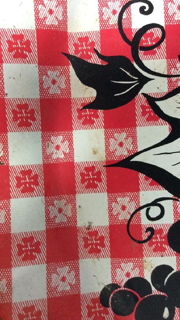 Vintage Checkered Tole Tray Vintage Kitchen Tray - 6