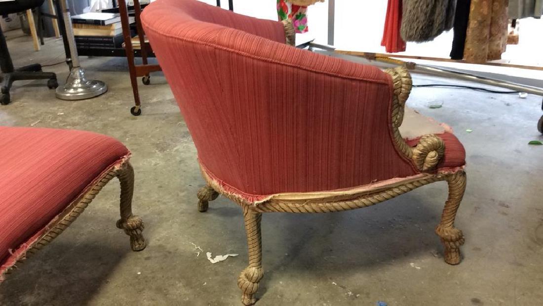 C 1950's Erin Lambeth Poodle Chair W Ottoman Circa - 7