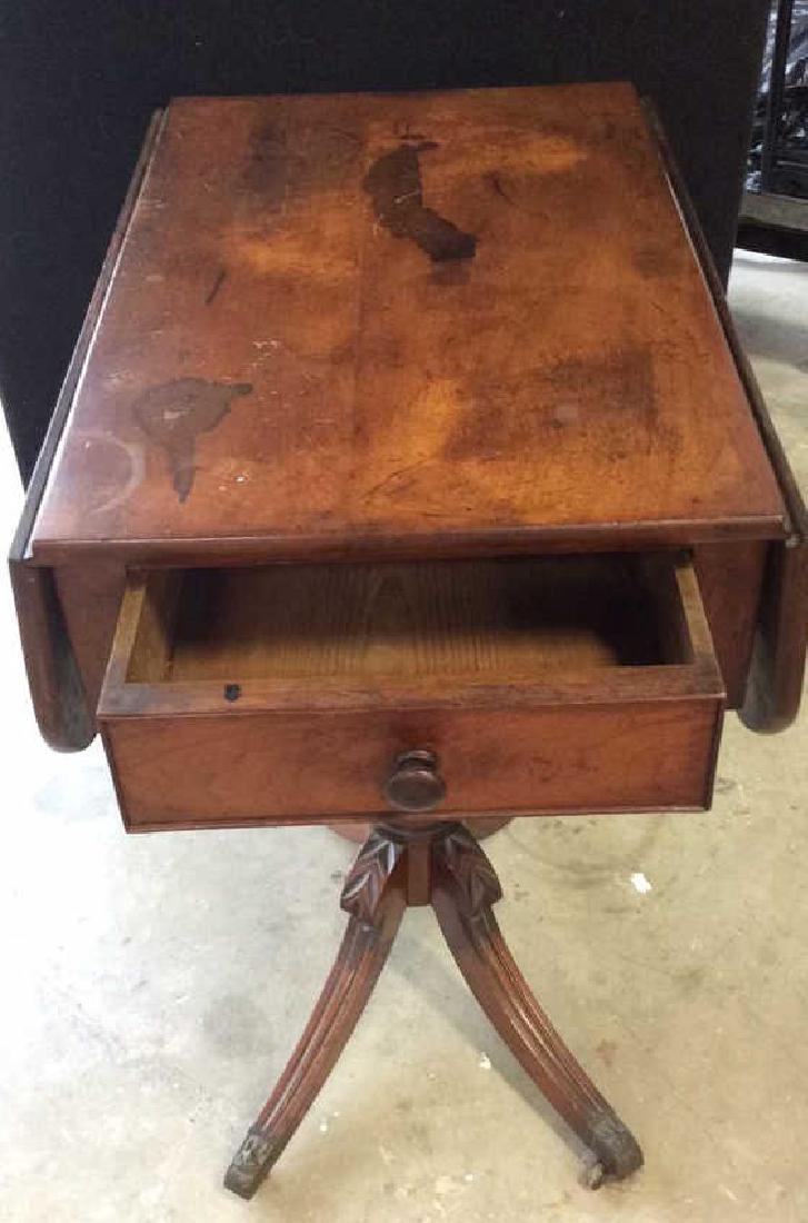 Antique Duncan Phyfe Style Side Table Side table, End - 5