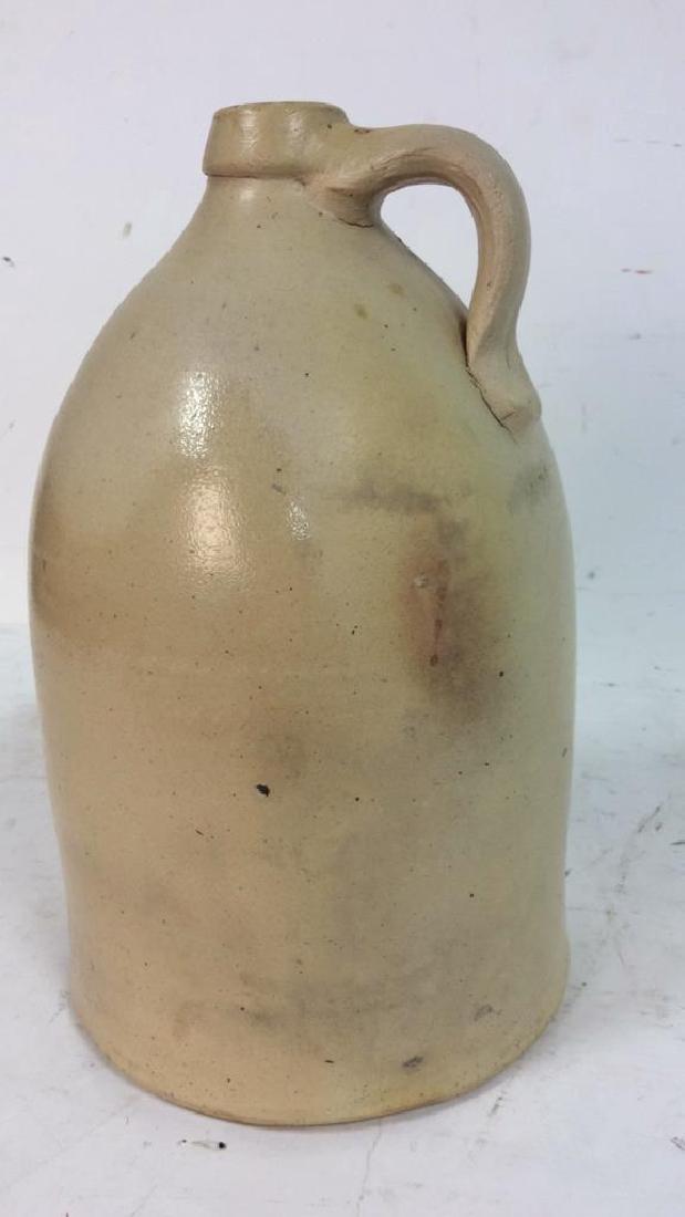 Vintage 2 Gallon Salt Glazed Ironstone Jug Marked with - 5