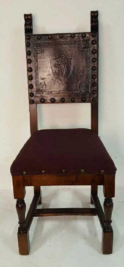 Antique Set of 10 Spanish Colonial Dining Chair Antique - 2
