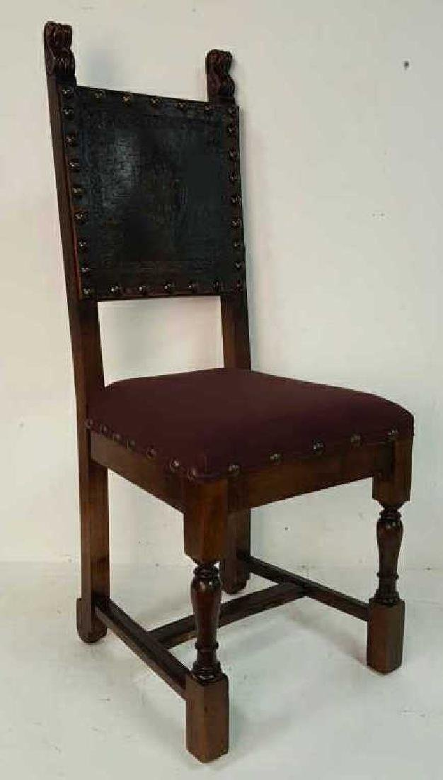 Antique Set of 10 Spanish Colonial Dining Chair Antique - 6