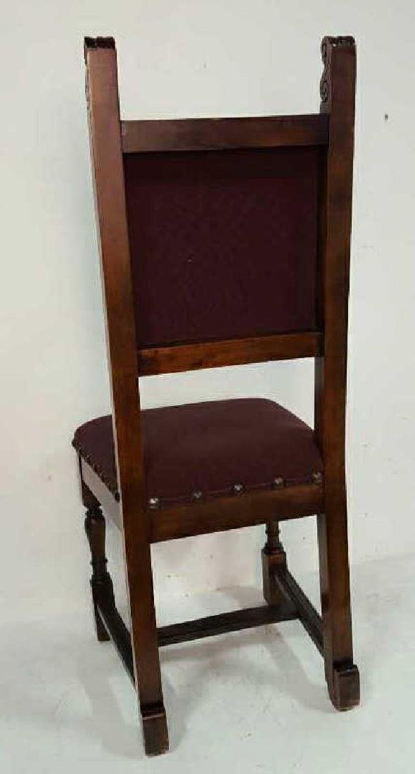 Antique Set of 10 Spanish Colonial Dining Chair Antique - 7