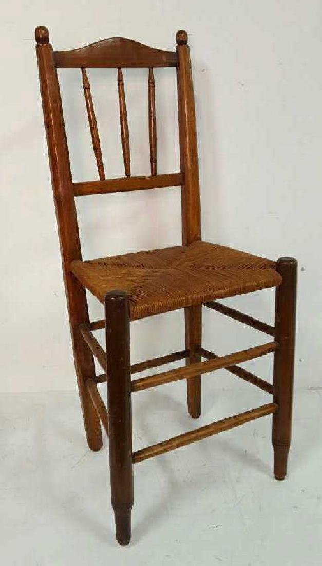 Set of Six Antique French Rush Dining Chairs Set of Six - 2
