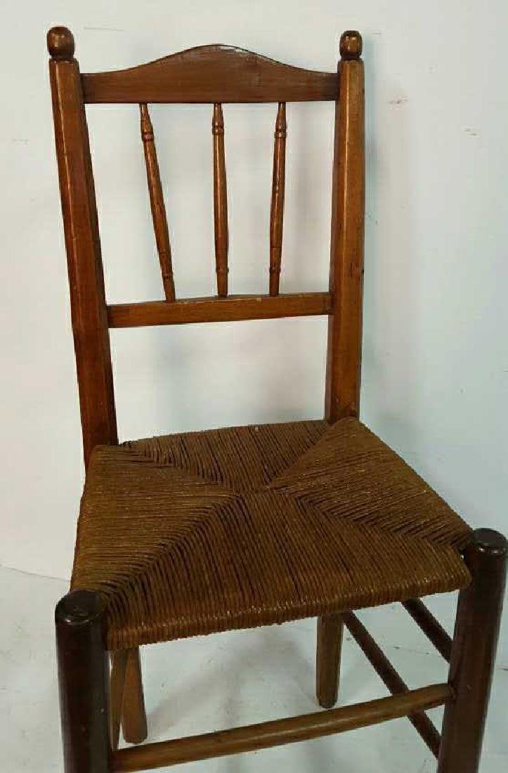 Set of Six Antique French Rush Dining Chairs Set of Six - 3