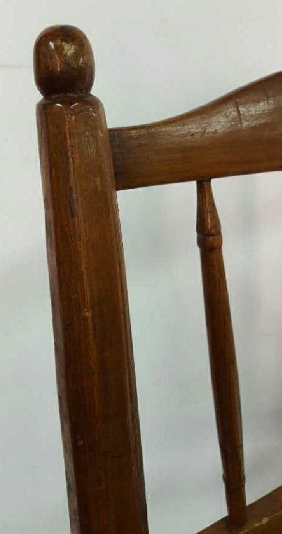 Set of Six Antique French Rush Dining Chairs Set of Six - 5