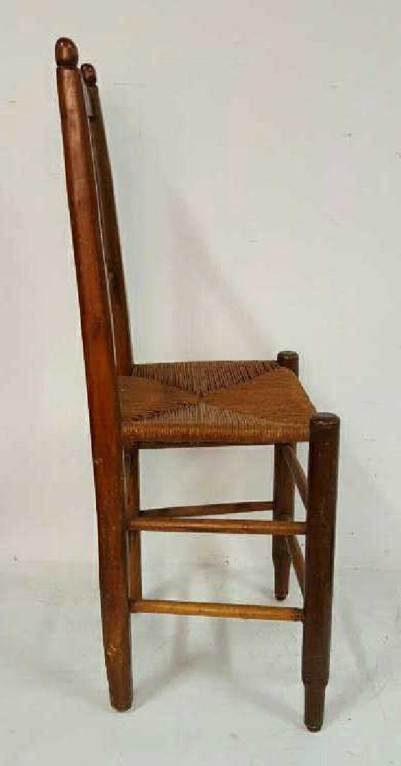 Set of Six Antique French Rush Dining Chairs Set of Six - 6
