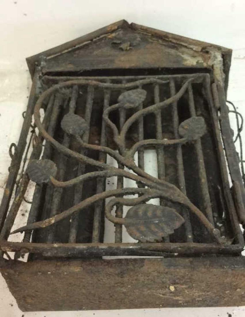 French Antiques Iron Metal Wire Mail Box Decorative - 10