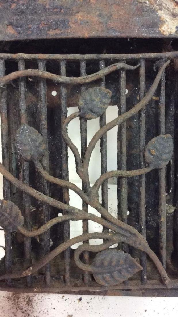 French Antiques Iron Metal Wire Mail Box Decorative - 2