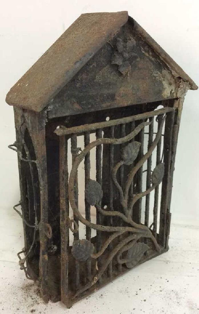 French Antiques Iron Metal Wire Mail Box Decorative - 4