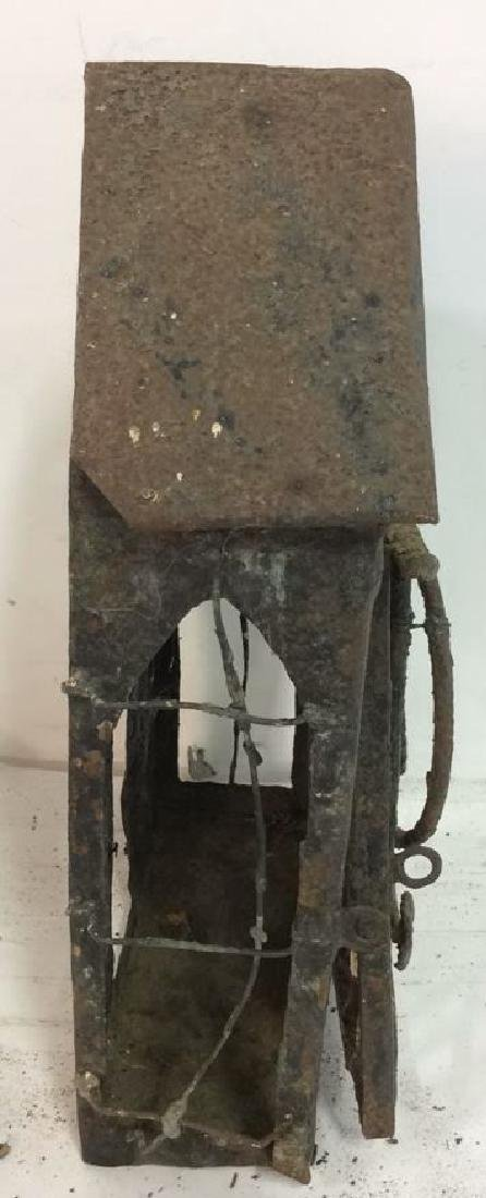 French Antiques Iron Metal Wire Mail Box Decorative - 5