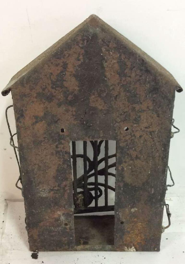 French Antiques Iron Metal Wire Mail Box Decorative - 6