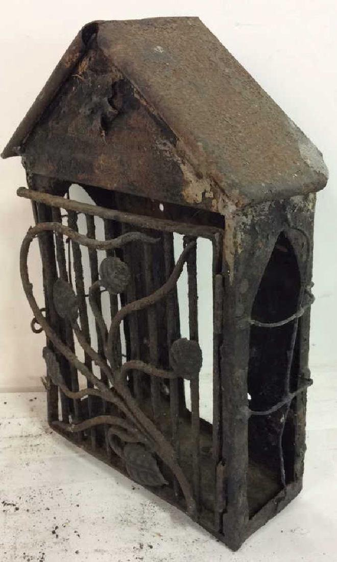 French Antiques Iron Metal Wire Mail Box Decorative - 8