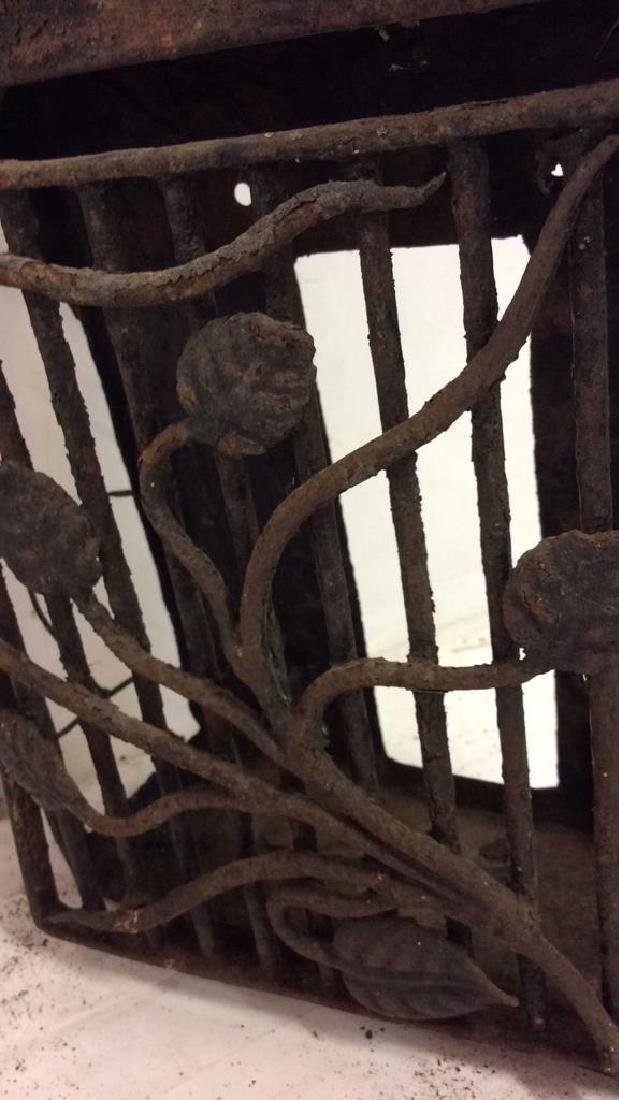 French Antiques Iron Metal Wire Mail Box Decorative - 9