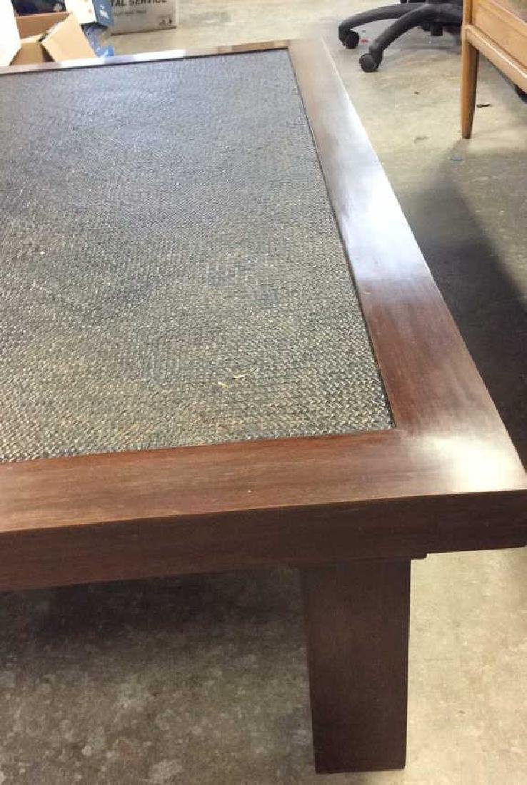 Transitional Style Wood and Textured Coffee Table - 4