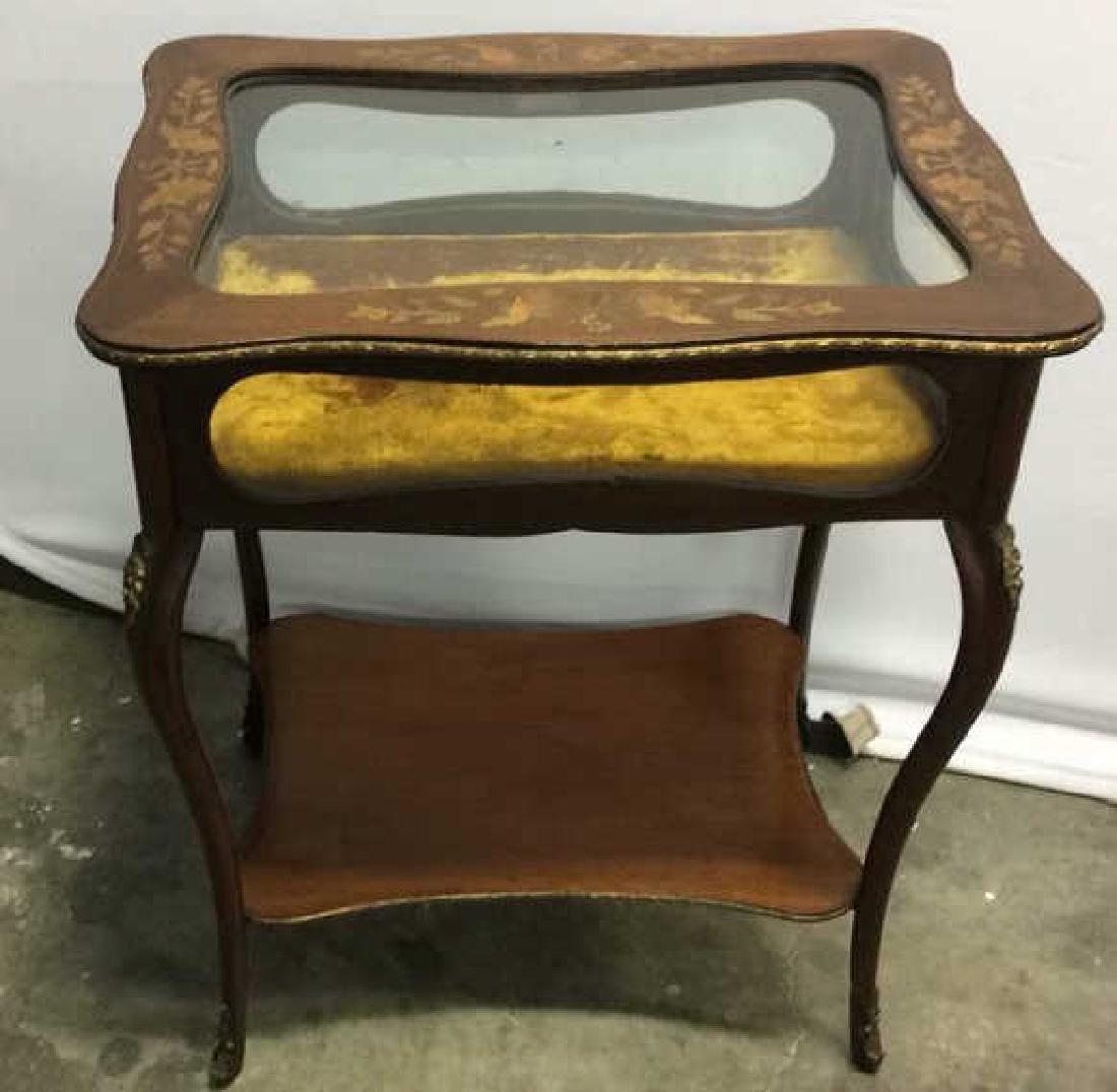 Louis XIV Style Side Table Vitrine