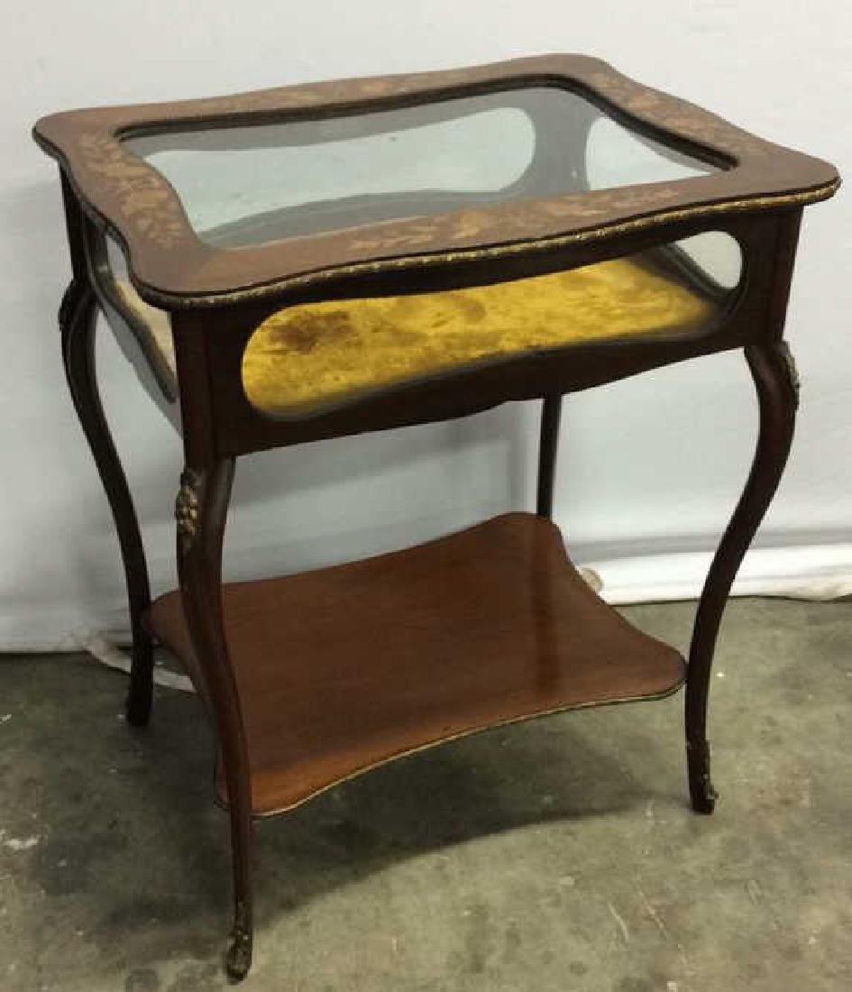 Louis XIV Style Side Table Vitrine - 2